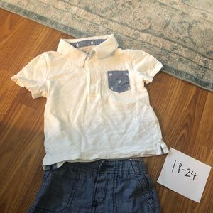 18-24M Gap red white and blue outfit